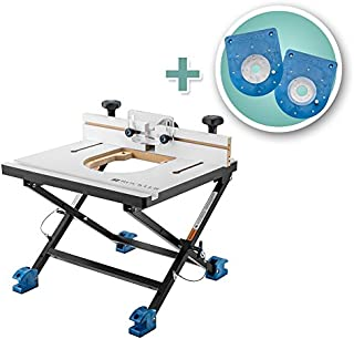 Rockler Convertible Benchtop Router Table with Compact and Mid-Size Insert Plate Kits
