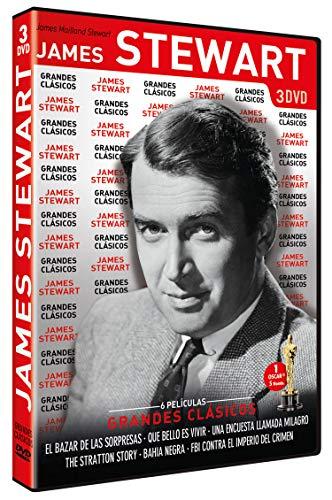 Grandes Clásicos James Stewart: (El bazar de las sorpresas / Qué bello es vivir / Una encuesta llamada milagro / The Stratton Story / Bahía negra / FBI contra el imperio del crimen) [DVD]