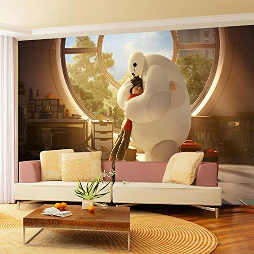 WWMJBH Papel Pintado Autoadhesivo (W) 400X (H) 280Cm3D Equipo Marino De Dibujos Animados Fondo De Pantalla Animado Mural Póster 3D Mural Foto Niños Niño Niña Dormitorio Arte De La Pared Sala