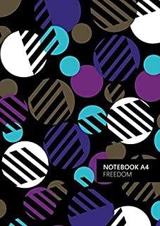 Freedom Notebook - A4: (Purple Edition) Fun notebook 192 lined pages (A4 / 8.27x11.69 inches / 21x29.7cm)