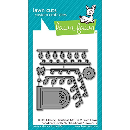 Lawn Fawn Build-a-House Christmas Add-on Die (LF2048)