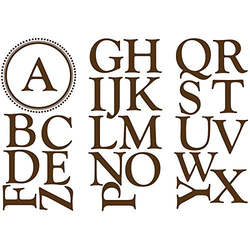 Wallpops Baby Sheets Durham Monogram And Alphabet Wall Decal