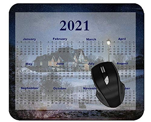 N\A 2021 Calendar Professional Mousepad Road House Starry Sky Winter Extended Gaming Mouse Pad