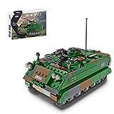 SEREIN Militär Auto Fahrzeug Modell 735 Teile Technik WW2 Militärlastwagen Panzer Modellbausatz Spielzeug Set, Kompatibel mit Lego