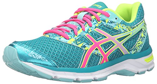 ASICS Zapatillas de mujer para correr Gel-Excite 4, Azul (Lapis/Hot Pink/Safety Yellow), 7.5 B(M) US
