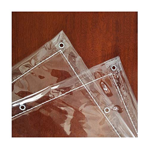 WXQIANG Abdeckplane, regendicht, wasserdicht, vollständig transparent, dickes PVC, weiches Glas, Anti-Aging, Balkon-Windschutz, individuelle Größe, PVC, farblos, 2x2.5m