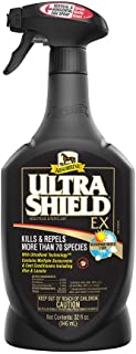 Absorbine UltraShield EX Fly Spray, Insecticide and Repellent for Horses & Dogs, Lasts Up to 17 Days, 32oz Quart Spray Bottle