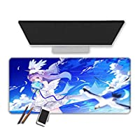 マウスパッド 30X80X0.3CM Anime Azur Lane Mouse Pad Durable Stitched Edges Smooth Surface Special Textured Rubber Base Extended Gaming Mousepad Thick Large Mouse Mat Office Keyboard Pads Gamer-(Q)