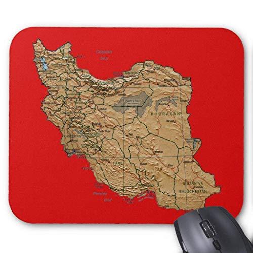 Muis Mat, Gaming Muis Pad Grote Grootte 300x250x3mm Dikke Iran Kaart Verlengde Muis Pad Antislip Rubber