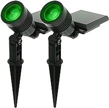 Kit com 2 - Luminária Solar Espeto de Jardim LED SMD Verde 10 Lúmens