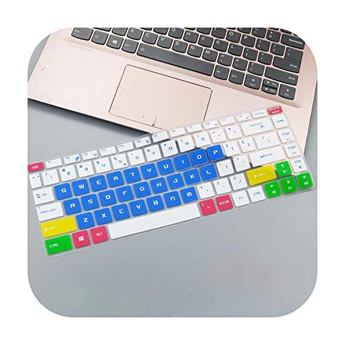 Protector de teclado ultra delgado de silicona suave para MSI GF63 8rd 8rc GS65 15.6 pulgadas Gaming Laptop GF 63 (version 2018) Azul caramelo.