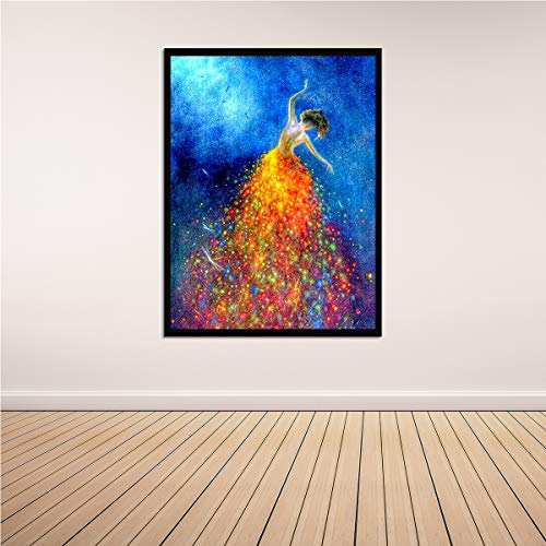 Arte moderno pared hermosa fantasía bailarina niña