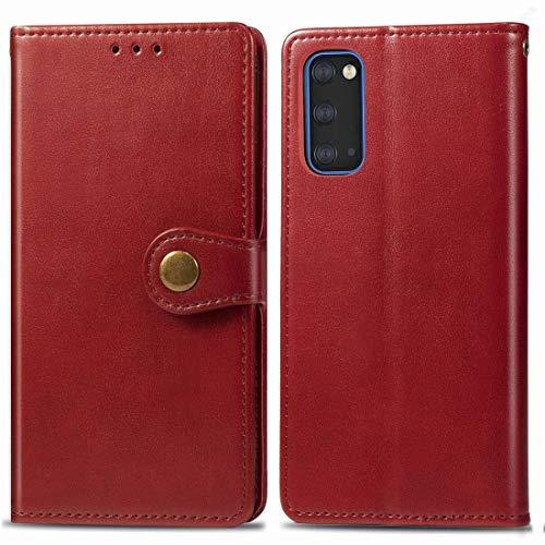 La selección de cici For la caja de cuero de la hebilla de la protección del teléfono móvil Galaxy S11e retro sólido de color de piel con marco de fotos y ranura for tarjeta y monedero y función de so