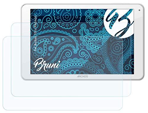 Bruni Schutzfolie kompatibel mit Archos 101c Platinum Folie, glasklare Bildschirmschutzfolie (2X)