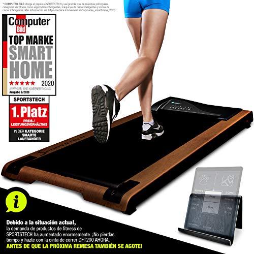 Cinta de correr DESKFIT DFT200 Office Desk (escritorio de oficina) Trabajo ergonómico y movimiento al mismo tiempo, sin dolor de espalda. Con soporte práctico para tablet, control remoto by Sportstech