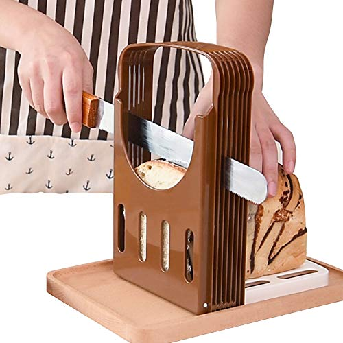 HuiYouHui Bread Slicer, Bread Bake Bread Slicer Cutter, Foldable Bread Slicer Compact Bread Slicing Guide,Kitchen Accessories,Bread Machine Bread Maker for Homemade Bread Bagel Loaf Sandwich