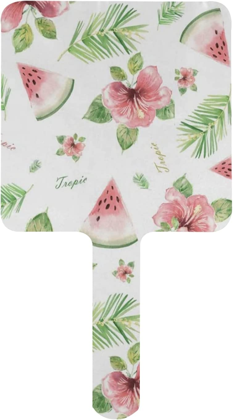 Hand Mirror Pink Cheap mail order specialty store Watermelon Flower High order Summer Handheld with Mirrors