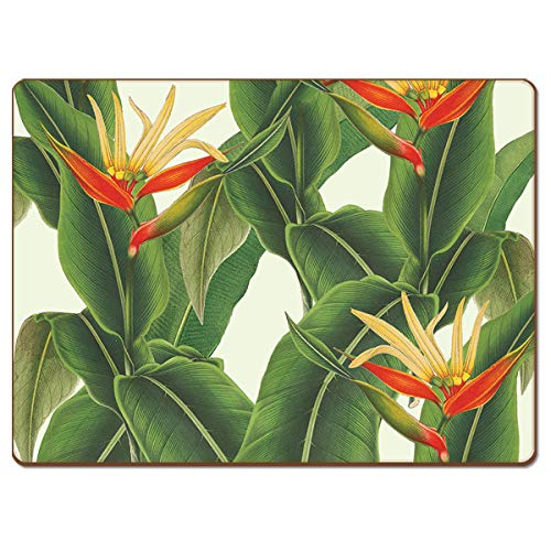 Cala Home Heliconia Hardboard Placemat Boxed Set of 4