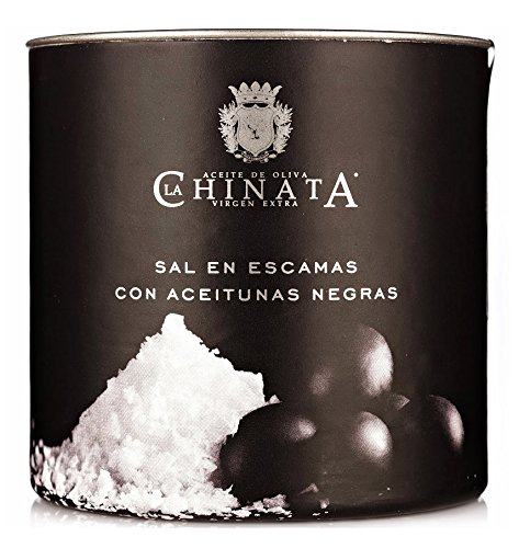 Sal Marina en Escamas 'Aceitunas Negras' (165 g) - La Chinata