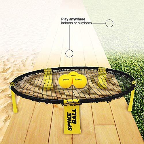 Spikeball Standard 3 Ball Kit - Includes Playing Net, 3 Balls, Drawstring Bag, Rule Book