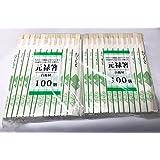 元禄箸 格子柄袋入(100膳×4袋)