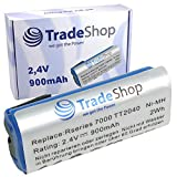 Trade-Shop - Batería para Philips Bodygroom Series 7000, TT2040/32, TT2030, TT2029, BG2024/32, BG2026/32, BG2036/32, R36#92, R45#54 (900 mAh, 2,4 V, 2 Wh)