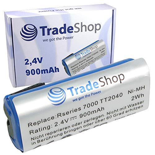 Trade-Shop Premium Akku für Philips Bodygroom Series 7000 Trim and Shave TT2040/32 TT2030 TT2029 TT2036 TT2040 BG2040/34 BG2040/34 BG2024/32 BG2026/32 BG2036/32 R36#92 R45#54 (900mAh / 2,4V / 2Wh)
