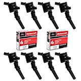 MAS Ignition Coils DG508 and Motorcraft Spark Plugs SP493 compatible with Ford Lincoln Mercury 4.6L engines