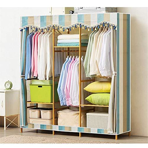 Home Equipment Schlafzimmer Kleiderschränke Freistehende Kleiderschrank aus Holz150x43x164cm Hochleistungskleidung Kleiderschrank Kleiderschrank Kleiderschrank Aufbewahrungsorganisator Modernes Des