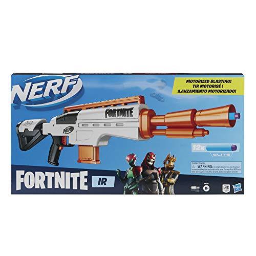 Nerf Fortnite IR motorisierter Blaster - Dart-Blasting Fortnite Blaster Replica - 6-Dart Abnehmbarer Clip 12 Offizielle Nerf Elite Darts
