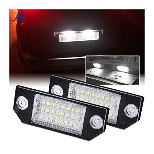 Lámparas de luz de placa de matrícula de 2 unids para Ford Focus C-MAX MK2 03-08 ACCESORIOS EXTERIORES DE CUCHO LUCES DE ACCESORIOS 12V Placa Bulbo