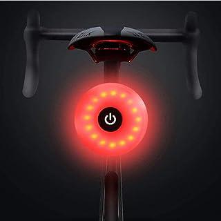 AutoWT Luces Traseras de Bicicleta, Luz recargable y ultra brillante para bicicletas, con luz de cola, hasta 56 horas Runt...