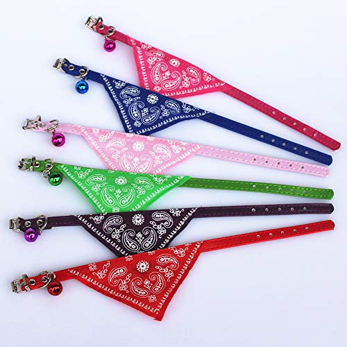 Lai-LYQ huisdier driehoekige bandage, kunstleer hond kat slabbetje halsdoek kraag sjaal huisdier verzorging, rozerood