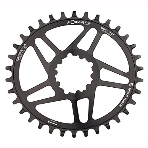 Wolf Tooth Oval Boost Race Face Plato Bicicleta, Negro, 34