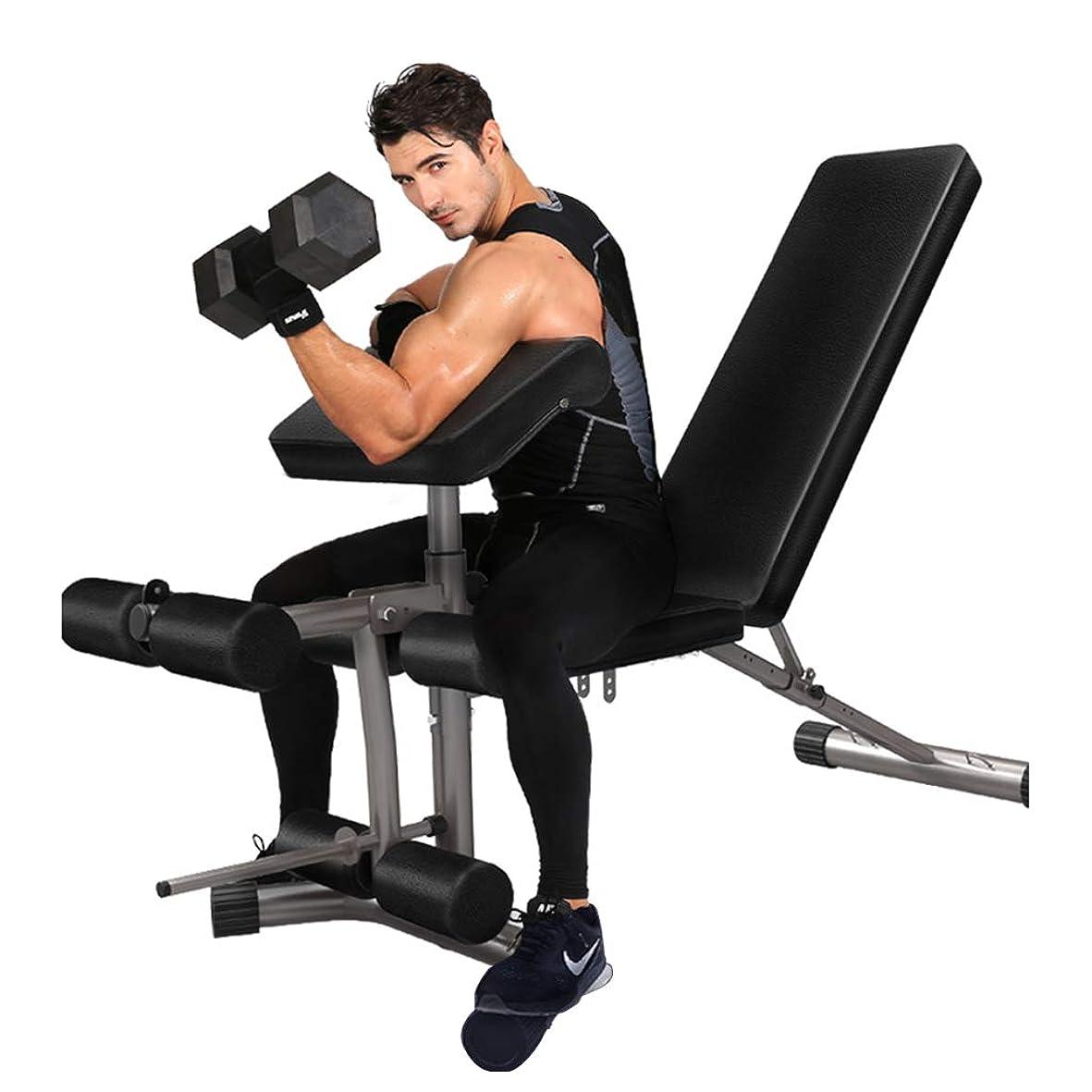 応答文庫本説明するトレーニングベンチ ダンベルスツール多機能ベンチプレス調節可能なフィットネスチェアダンベルベンチ座って姿勢キックトレーナー家庭用フィットネス機器 仰臥位ボード (Color : Black, Size : 171*65*47cm)