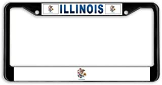 Customized Aluminum Metal Car Auto License Plate Frame Holder Black Standard Size for US Vehicles