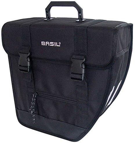 Basil Unisex– Erwachsene Gepäckträgertasche Tour-Single Rechts Fahrradtasche, Black, 33 cm x 14 cm x 33 cm