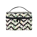 Bolsas de cosméticos Travel Makeup Cosmetic Bags Palm Leaves and Flowers Art Toiletry Bags Makeup Suitcase For Women Travel Daily Carry