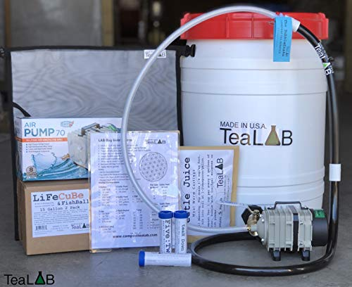 Complete Compost Tea Brewer : 15 Gallon : Convenient Size for The Avid Home Gardener.