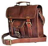 Jaald 28 cm Tracolla in Pelle Valigetta Borsello Sacchetto del Messaggero piccola borsa Borsone a Spalla per Ufficio Vintage Uomo Borsa del leather briefcase Messenger bag