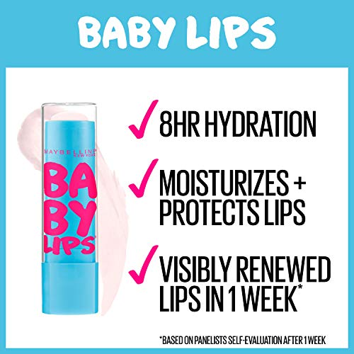 Maybelline New York Baby Lips Moisturizing Lip Balm, Cherry Me, 0.15 oz.