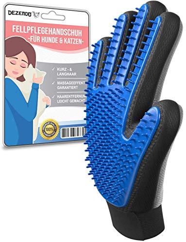 DEZENDO Fellpflegehandschuh für Hund & Katze   Hundehaare & Katzenhaare entfernen inkl. Massageeffekt   Fellpflege mit dem Katzen Handschuh & Hunde Handschuh   Fellhandschuhe Katze & Hunde