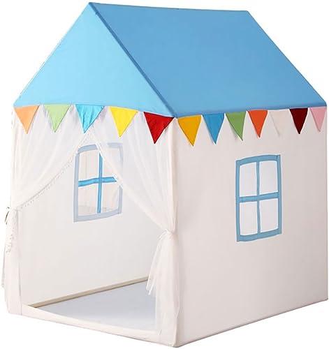 Home experience- Prince oder Prinzessin Spielhaus Kinder Spielen Zelt Haus Indoor oder Outdoor Kinder Spielzeug Strand Sonne Zelt für Jungen mädchen (Farbe   Blau, Größe   L)