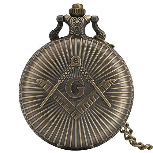 Reloj de bolsillo para hombre, de aleación de alta calidad, con cadena fina, con números arábigos grandes