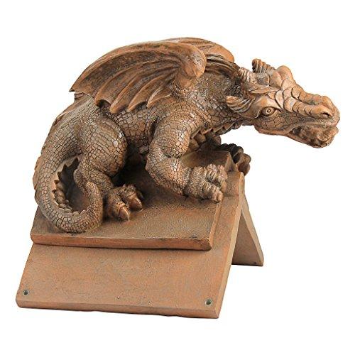 Design Toscano Apex, der geflügelte Drache, Skulpturaler Dachsitzer