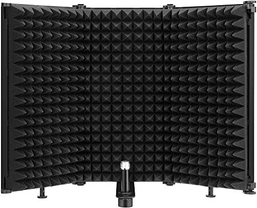 Youool Microphone Isolation Shield Pop Filter, Foldable Multifunction...