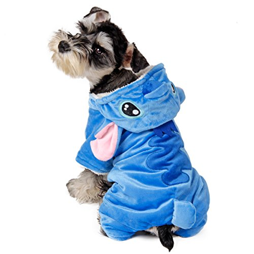 Speedy Pet Dog Clothes Cat Apparel Adorable Costume Double Layer Soft Wool Fabric and Fleece Size S