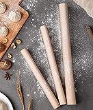 mwant Mattarello in Legno massello attrezzo da Cucina per Uso Domestico Durevole e Facile da Pulire Adatto per Cucina casalinga Cottura Strumento Biscotto per pizza-40 * 2,5 cm
