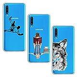 Suhctup [3 pezzi] Custodia compatibile con Motorola Moto G7 Play, cover in silicone TPU tr...