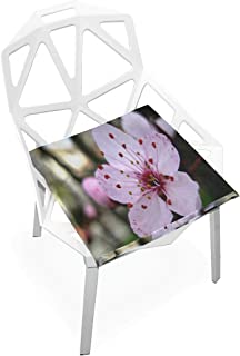 Seat Cushion Cherry Blossoms Flowers Pink Chair Cushion Offices Butt Chair Pads Square Car Mat for Kitchens